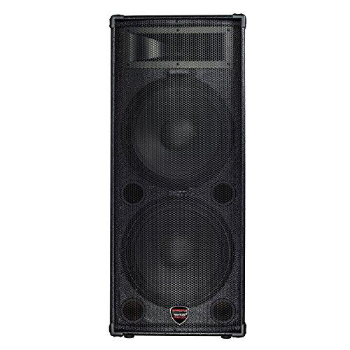 Nady Pa System - Nady PPAS-215+ / Full Range 2-Way Powered PA speaker / 200W class AB amp / 2 x 15