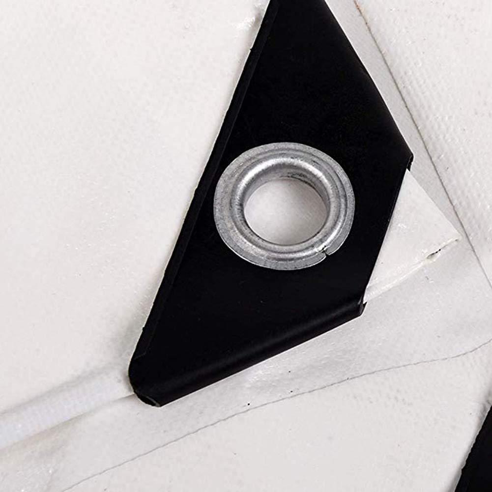 6.5x10ft GHKL Lona Toldo con Perforaciones Prueba de Polvo Protector Solar Prueba de Lluvia Protecci/ón UV Plegables P/érgola Techo Size : 2mX3m Lona Impermeable Blanca