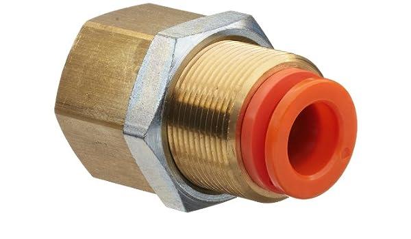 SMC KQ2E conector de tubo de empuje a conexión, conector de mampara, cuerpo de latón, tubo OD x BSPT hembra, pulgadas: Amazon.es: Amazon.es