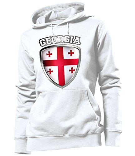 Copa del Mundo de fútbol - Campeonato de Europa de Fútbol - GEORGIA FAN mujer Capucha Tamaño S to XXL varios colores S-XXL Blanco