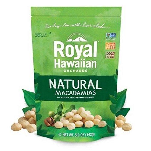 Royal Hawaiian Orchards Macadamias Natural Roasted, 5 Ounce by Royal Hawaiian Orchards