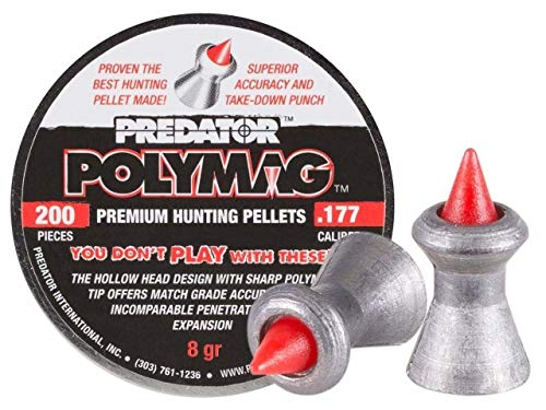 - Predator International Polymag .177cal Airgun Pellets, 200ct