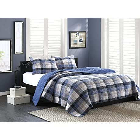Ink Ivy Maddox 2 Piece Quilt Set King Blue By Ink Ivy