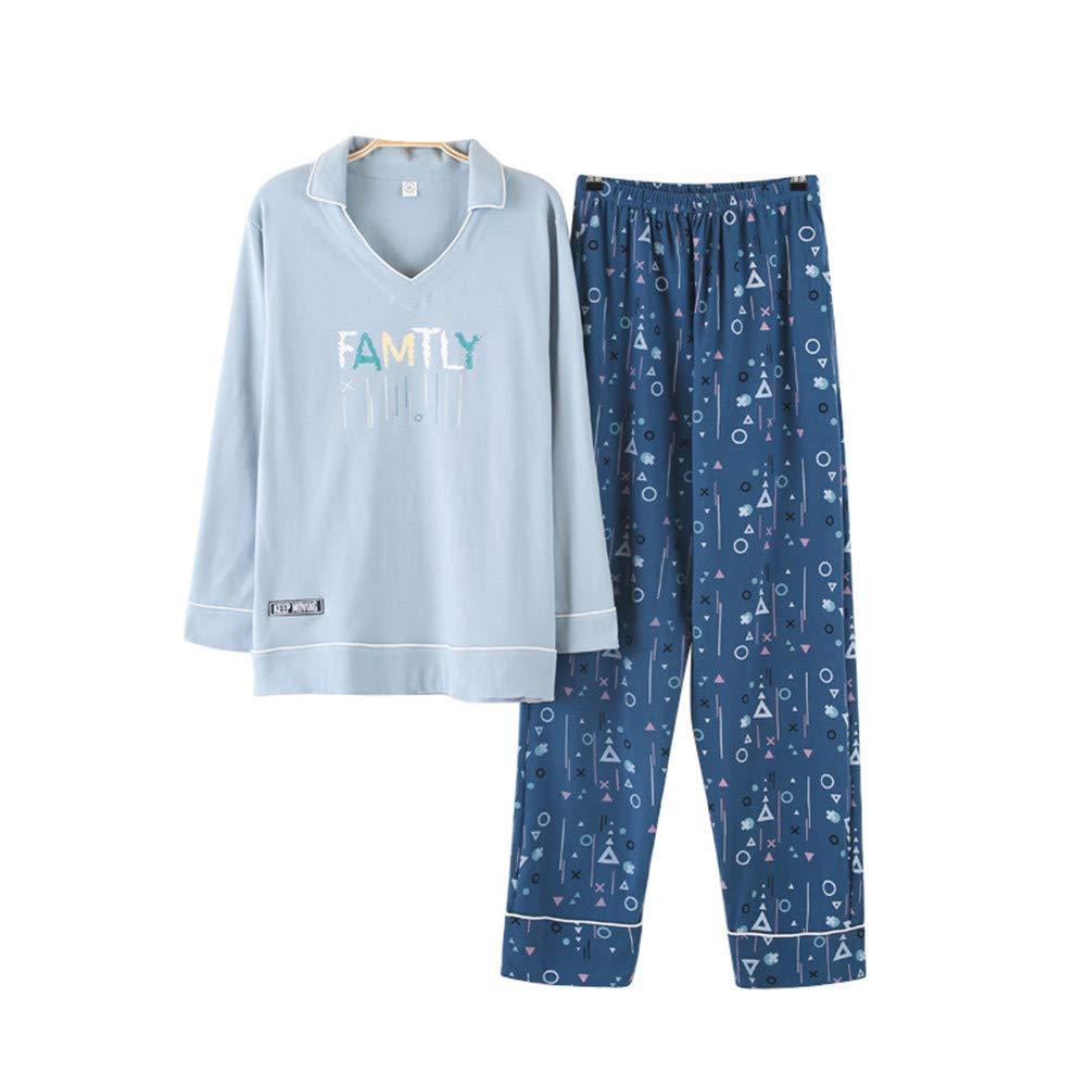 Wsxxnhh  Männer Pyjamas Langarm Baumwolle Frühling und Herbst Cartoon Teen Herrenbekleidung Baumwolle Mittelschule Studenten Große Größe Set