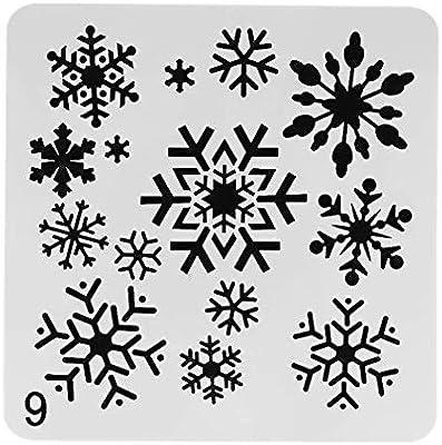 OBUY - Plantillas de Navidad, copo de nieve, manualidades, diseño ...