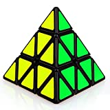 Willking Pyraminx Triangle Pyramid Magic Cube Puzzle Twist Toy Black