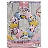 Bucilla Easter Eggs Wreath Felt Applique Kit