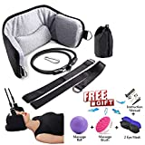 The Original Portable Cervical Traction and Relaxation Device, Spinal Alignment Decompression Massage Reliever, Head Adjustable Massager for Spine Neck and Shoulder Pain Relief in 10 Minutes or Less