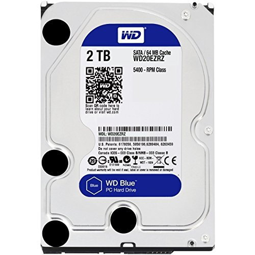 Pc Internal Hard Disk (WD Blue 2TB Desktop Hard Disk Drive - SATA 6 Gb/s 64MB Cache 3.5 Inch - WD20EZRZ)
