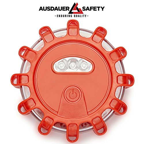 (3 LED Kit + Safety Triangle) Red LED Road Flares, Emergency Disc Roadside Safety Light Flashing Road Beacon for Auto Car Truck. by AUSDAUER Safety … (Bonus Safety Triangle) by AUSDAUER SAFETY (Image #2)
