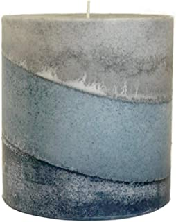 product image for Wicks N More Indigo Mist Handmade Pillar Candles (4x4)