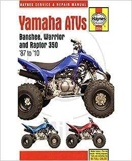 2006 yamaha raptor 350 manual