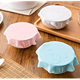 Flee Set of 3 Microwave Cover Silicone Lids Use as Food Covers Bowl Covers BPA Free Strong Suction