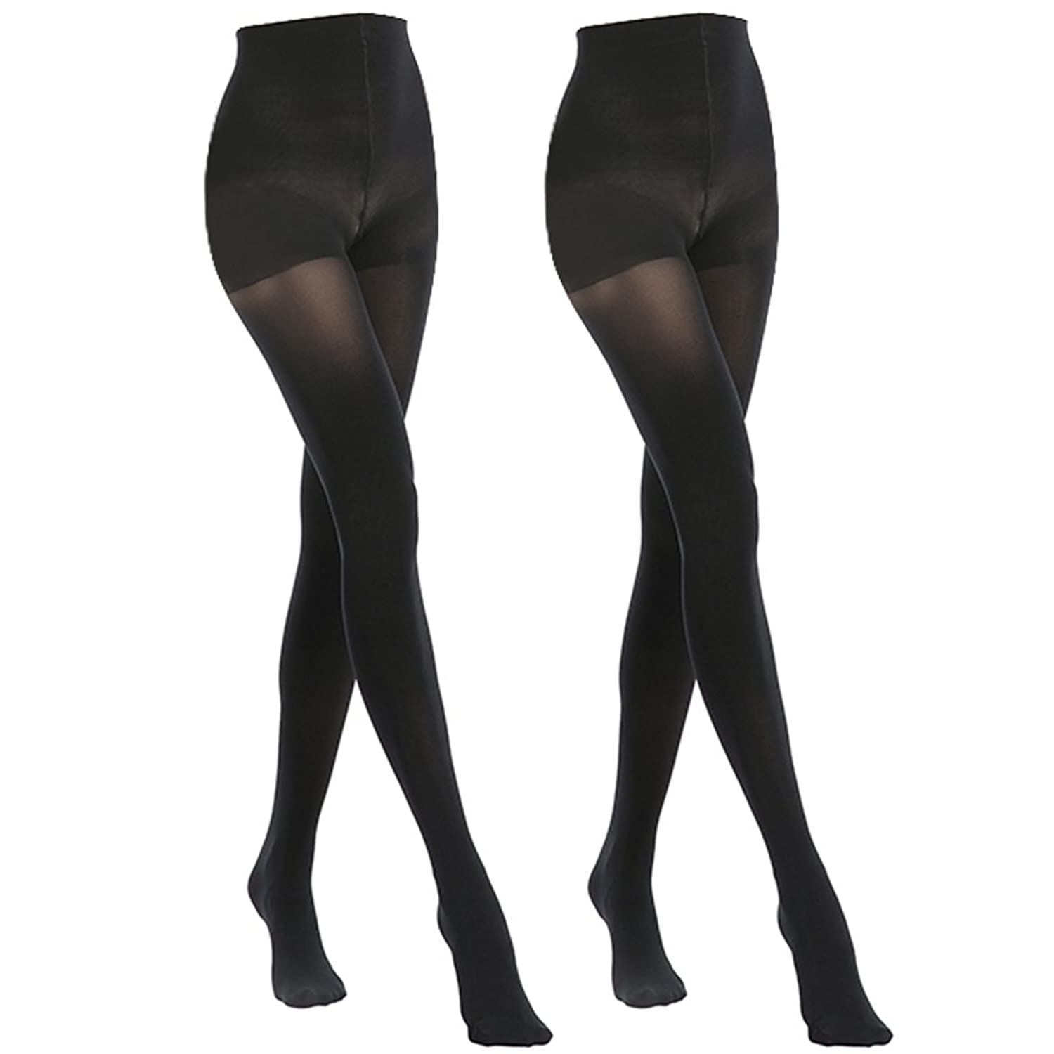 57d9b5d00d2 MANZI 2 Pairs 70 Denier Women s Tights Stretch Run Resistant Opaque Control  Top Tights
