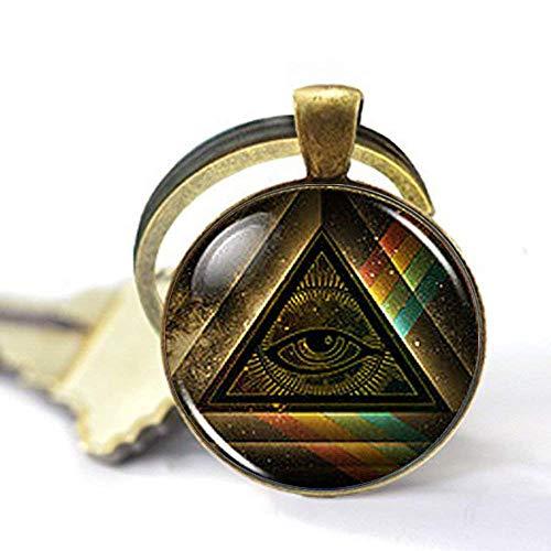 Steampunk Masonic Freemason Illuminati Pendant, Satanism Necklace,Gift Keychain ()