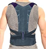 ORTONYX Snug High Back Support Brace Posture Corrector, Rigid Support Thoracic Lumbar Spine for Men and Women - XXL Gray