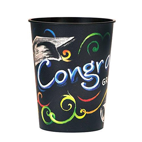 16oz Chalkboard Graduation Plastic Cup