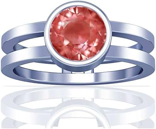 Platinum Round Cut Pink Sapphire Solitaire Ring
