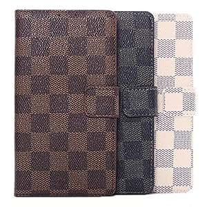 patrón de cuadros cartera de cuero flip cubierta protectora para Samsung Galaxy Note 4 (colores surtidos) , Beige