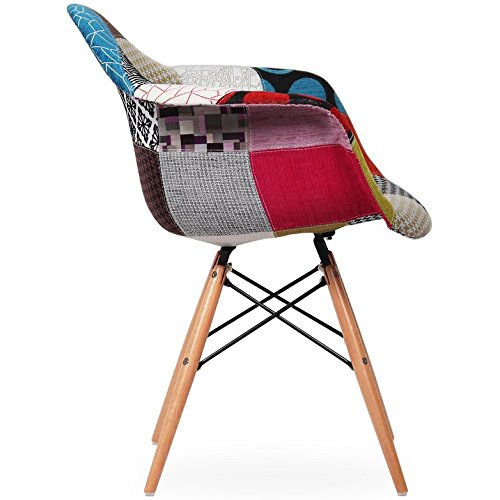 2xhome set of two 2 multi color modern upholstered for Multi coloured fabric dining chairs