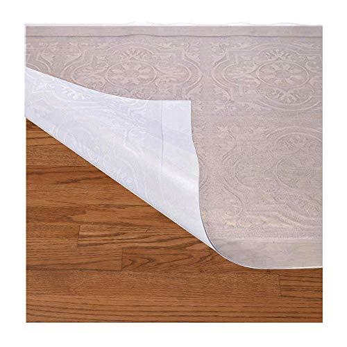 Resilia Mediterranean Pattern- Premium Clear Plastic Floor Runner/Protector for Hardwood Floors - Non-Skid, 27 Inches x 25 Feet]()