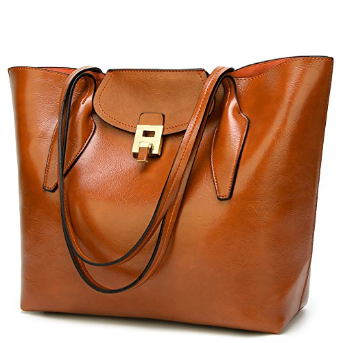 Leather Suede Tote (Women's Purses and Handbags Ladies Satchel Designer Totes Shoulder Bags)