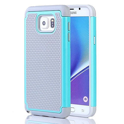 Galaxy Note 5 Case,Samausng Galaxy Note 5 Case [Shockproof] [Drop protection] High Quality TPU&PC Hybrid Dual layer Full-Body Protective Case Cover for Samsung Galaxy Note 5 (Hot Blue)