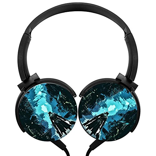 Stereo Headphone Comic World Wired Headset 3D Printed Hipster Music Design Humor Funny Cool