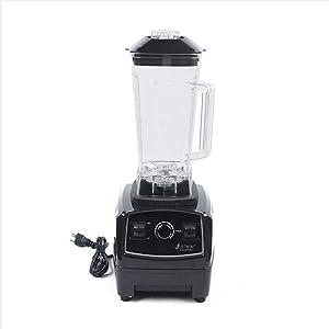 Commercial Grade Blender, 2L 2200W Heavy Duty Countertop Blender Mixer Food Processor Frozen Fruit Vegetable Juice Maker Large Smoothie Blender Ice Crusher (Black)