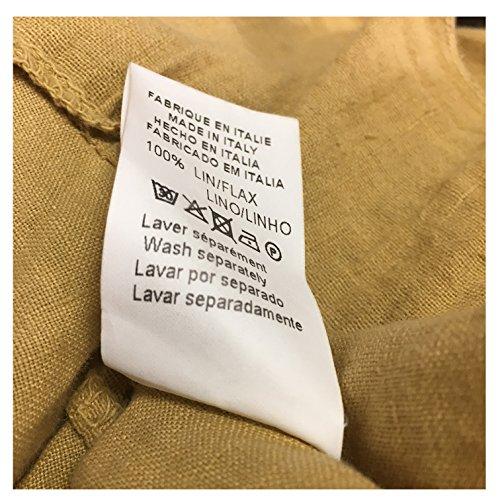 LA FEE MARABOUTEE abito donna giallo 100% lino MADE IN ITALY (IT M-44 UK 12 DE 38 FR 40)