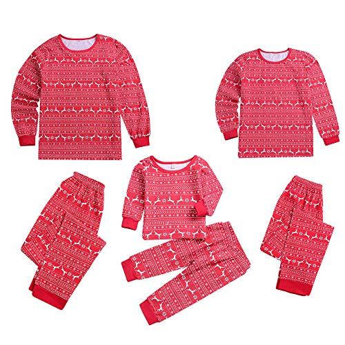 Christmas Outfits Set Duseedik Women Kids Baby Men Reindeer Tops Blouse Pants Family Pajamas Sleepwear
