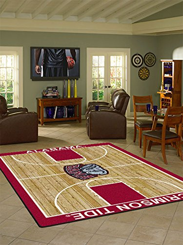 Milliken College Home Court Alabama Area Rug Alabama/5'4