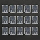 Bluecell Pack of 15 Clear Plastic Memory Card Case Holder for SanDisk/Kingston/Transcend/Samsung SD Micro SD T-Flash Card