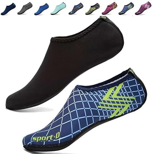 [3rd Upgraded Version] CIOR Durable Sole Barefoot Water Skin Shoes Aqua Socks For Beach Pool Sand Swim Surf Yoga Water Aerobics