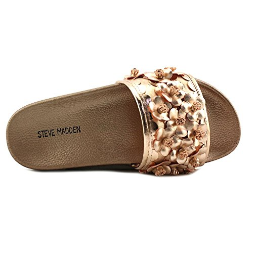 Steve Madden Seema Women Open Toe Synthetic Pink Slides Sandal Rose Gold