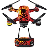 Skin for DJI Spark Mini Drone Combo - Bio Skull| MightySkins Protective, Durable, and Unique Vinyl Decal wrap cover | Easy To Apply, Remove, and Change Styles | Made in the USA
