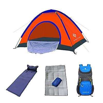 2-3 personnes Ensemble de tente de camping en plein air Ensemble de tente double Ensemble de tente de terrain Tentes de printemps