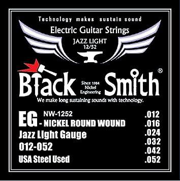 Blacksmith Pro Cuerdas Guitarra Eléctrica Ligero Calibre 12-49 Wound 3rd G: Amazon.es: Instrumentos musicales