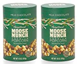 Harry & David (TM), Moose Munch Gourmet Popcorn, Milk Chocolate, 10 Oz Canister (Combo Set of Two)