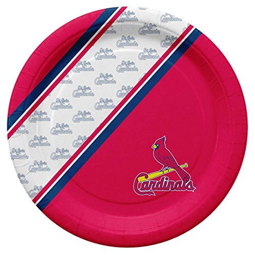 Duck House St. Louis Cardinals Disposable Paper Plates, 10-Inch, Pack of 20