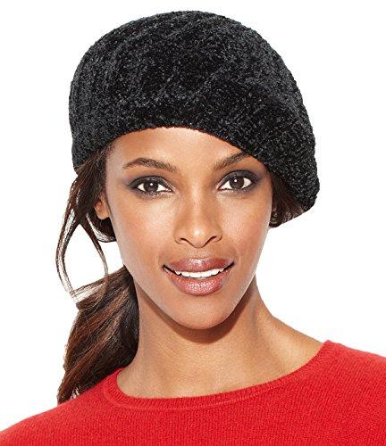 Chenille Beret - Charter Club Women's Chenille Shaker Beret Hat Black