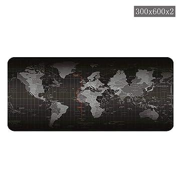 Inciple World Map Pattern Precisión Overlock Sobre Tamaño Engrosamiento antideslizante Mouse Pad Juego Teclado Pad Desk Pad Equipo Juego Ratón: Amazon.es: ...