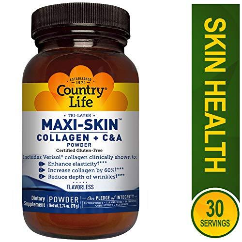 Country Life - Tri-Layer Maxi-Skin Powder, includes Verisol Collagen - 2.74 Ounce