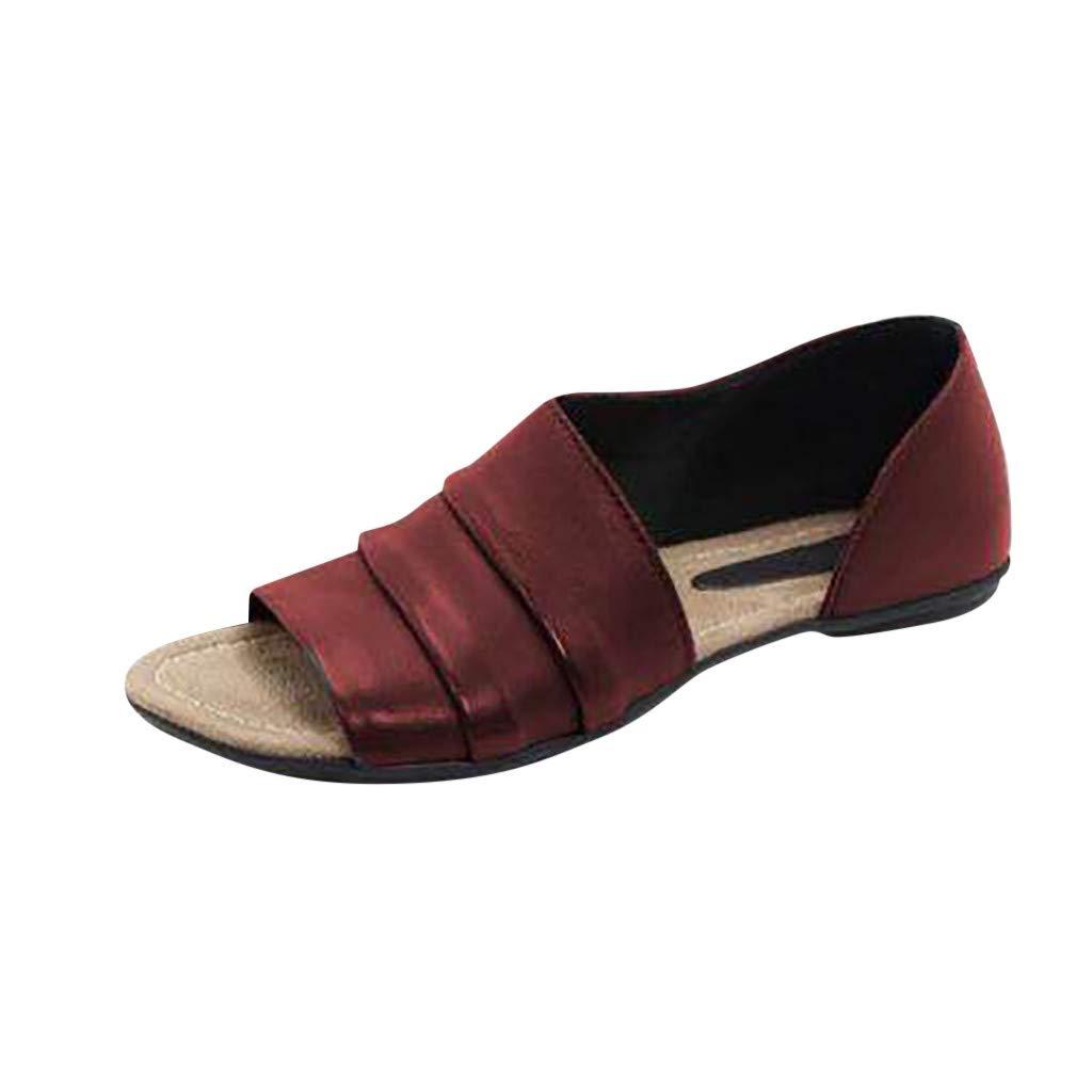 Amazon.com: Sandals for Women Platform Casual, Sharemen Flats Shallow Mouth Peep Toe Beach Shoes Roman Sandals: Clothing