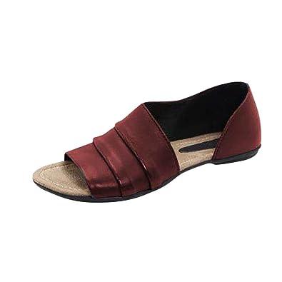 Peep Sandalen Toe Sandaletten Damen Sommer Hinten Badeschuhe VUzGqSpLM