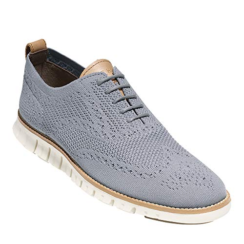 Cole Haan Men's Zerogrand Stitchlite Wingtip Oxford, Ironstone/Ivory, 9.5 Medium US