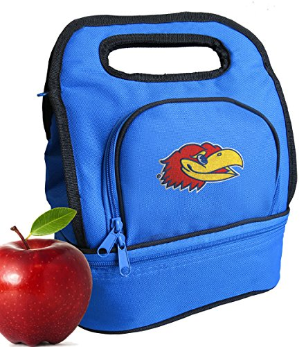 Broad Bay KU Jayhawks Lunch Bags Two Section Insulated University of Kansas Lunch Bag (Jayhawks Lunch)