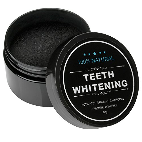 Iwotou Teeth Whitening Charcoal Powder Natural Activated Charcoal Powder Teeth Whitener of Organic Coconut Shells for Healthy Cleaner Whiter Teeth