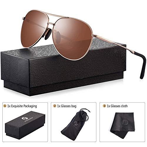 b1004a9907 Polarized Aviator Sunglasses for Men - Feirdio Metal Frame Sports UV 400  Protection Mens Women Sunglasses 2261
