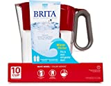 water filter pitcher costco Brita Wave 10 Cup Water Pitcher Plus 2 Advance Filters (Red/Clear)